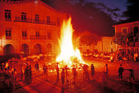 Bonfire on the eve of Saint John´s day. Astigarraga. Basque Country. Spain
