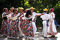 Dance troupe. Dominican Republic