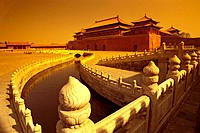 Meridian Gate and Golden River. Forbidden City. Beijing. China