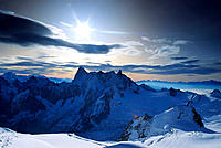 The Alps from Aiguille du Midi. Near Chamonix, France