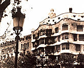 Casa Mil&#225; (also known as La Pedrera). Barcelona. Spain