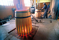 Barrel manufacturing. Alfaro. La Rioja. Spain