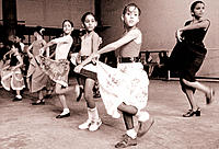 Spanish dance class. Havana. Cuba