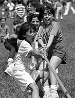 Children pulling in tug-of-war