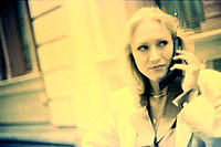 Woman on cellullar phone