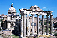 Saturn´s Temple. The Forum. Rome