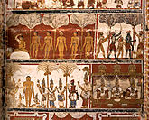 Jain paintings (18th Century). Gena Swamy Temple. Kanchipuram. India