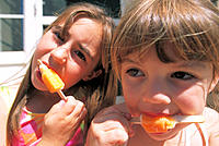 Kids with popsicles