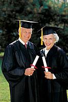 Senior graduate couple