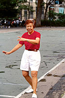 Senior woman practicing Tai-Chi