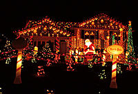 Christmas lights near Red Lion. Delaware. USA