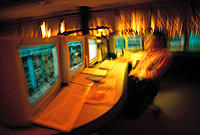 Petrochemical plant, control room