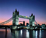 Tower Bridge. Thames River. London. England