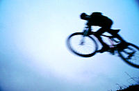 Mountain bike, jumping