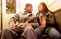 Young couple, New York subway train