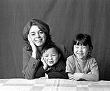 Swedish mother with chinese adopted children