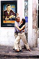 Tango dancers. San Telmo. Buenos Aires. Argentina