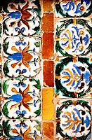 Mudejar style tiles. Seville. Spain
