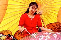 Painting umbrellas. Chiang Mai. Thailand