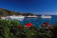 Cruise ships. Charlotte Amalie. Saint Thomas. U.S. Virgin Islands