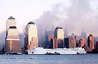 World Trade Center area three days after terrorist attack of 09.11.01. New York City. USA