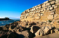 Harbour of the Greek and Roman ruins of Ampurias. Girona province. Spain