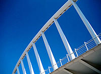 Detail of bridge by Santiago Calatrava. Valencia. Spain