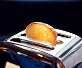 Slice of bread in toaster