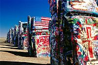 Cadillac Ranch. Amarillo. Texas. USA