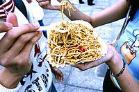 Snack, Women, Pasta dish