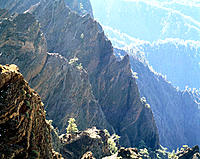 Spain, Canary Islands, La Palma, Caldera de Taburiente National Park, rocky landscape