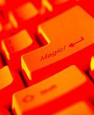 Close-up, Computer Key Reading Magic