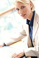 Frau Geschäftsfrau Computer Porträt