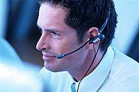 Geschäftsmann Kopfhörer Headset