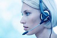 Geschäftsfrau Kopfhörer Headset