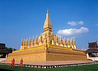 Pha That Luang. Vientiane. Laos