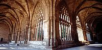 Cloister of the Gothic cathedral (La Seu). Lleida. Spain