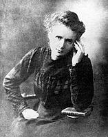 Marie Curie. Historical portrait of the Polish- French physicist Marie Curie (1867-1934, nee Marya Sklodowska). With her husband Pierre, she isolated ...