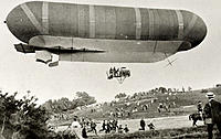 Military airship. Britain´s second military airship, built around 1905. In the years before the First World War (1914-1918), there was increasing conc...