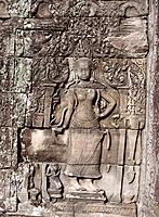 Relief at temple complex of Angkor Thom. Angkor. Cambodia