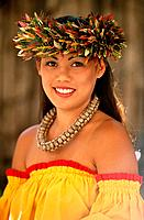 Hawaiian dancer. Oahu. Hawaii