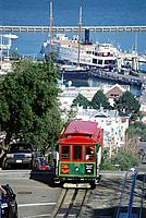 Cable Car. Hyde Street. San Francisco