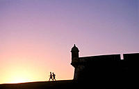 Fortress of El Morro at sunset. San Juan. Puerto Rico