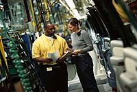 GM Car factory, trim line supervisors
