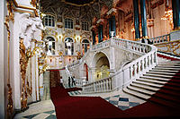 Interior of the Winter Palace, now Hermitage Museum. St. Petersburg. Russia