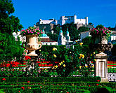 Mirabell Garden. Old city and castle. Salzburg. Austria