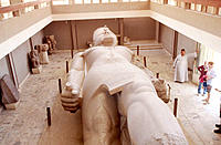 Statue of Ramses II at museum. Memphis. Egypt