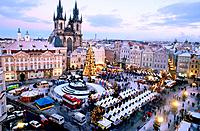 Christmas market. Old Town Square. Pregue. Czech Republic