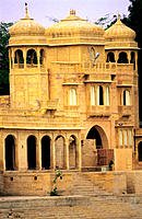 Palace in the outskirts of Jaisalmer. Rajasthan. India