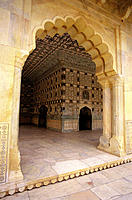 Gateway to one of the halls of the Amber Fort. Jaipur. India